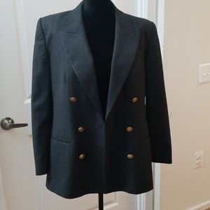 Talbots Double Breasted Gold Buttons Jacket  10